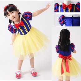 Wholesale Snow White Flower Girl Dress - Baby & Kids Clothing Flower Girls' Dresses Halloween Day Christmas Classic Fairy Tales Snow White princess Dresses Stage Performance Dress