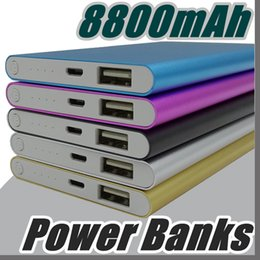 Wholesale Tablet Xiaomi - Wholesale Ultra thin slim powerbank 8800mah xiaomi power bank for mobile phone Tablet PC External battery F-YD