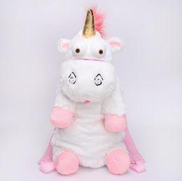 Wholesale Unicorn Soft Toys - Kids Backpack Unicorn Cute Plush Backpacks 55 CM Cartoon Animal Doll Soft Stuffed Toy Children Kid Fluffy Bag