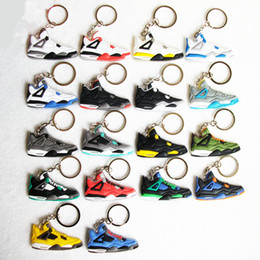 Wholesale Bones Reds Ceramics - High-quality retro 4 Key Chain, Sneaker Keychain Key Ring Key Holder for Woman and Girl Gifts Chaveiro Llaveros