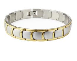 Wholesale Wholesale Magnetic Clasp Pendant - Bracelet Necklace Pendant RingClassic cool black bracelet magnetic therapy health bracelets bracelets male jewelry 210 * 12 mm Link Chain