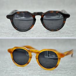 Wholesale Square Mask - 2018 Brand Square THE MASK Men Polarized Sunglasses Women Retro Sun Glasses High quality handmade Eyeglasses MA21001 With box