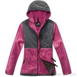 Wholesale Womens Sweatshirts Xl Zipper - 2016 New Sale Womens Hoodies Winter Autumn Warm Fleece Cotton Coat Zip Up Outerwear Hooded Sweatshirts Sport Suit Casual Long Coat Jacket