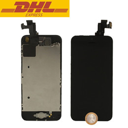 Wholesale Iphone 5c Wholesale Prices - Factory Price For iPhone 5C LCD Screen Assembly Touch Screen Digitizer+Home Button+Front Camera Complete Set DHL Shipping
