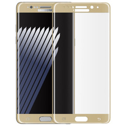 Wholesale Arc Surface - For Samsung Galaxy Note 7 3D Curved Tempered Glass Screen Protector 0.26mm Full Cover surface 2.5D Arc edge wooden box package