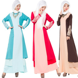 Wholesale Wholesale Muslim Clothing - National Trend Abaya 2016 Turkish Djellaba Arab Garment Islamic Clothing Dubai Kaftan Muslim Women Long Dress Ethnic Clothing Drop Shipping