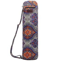 Argentina Ejercicio Full Zip Yoga Mat Bolsa Sport Sling Bag con lona resistente, cremalleras suaves, correa ajustable, gran bolsillo de almacenamiento funcional Suministro