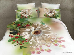 Wholesale Wholesale Bedding Sets Comforters - Free shipping 4pcs lot high quality 3D active flower printed 4pcs bedding set 2017 newest home textiles