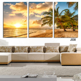Wholesale palms pictures - High Quality Hot Sell The Family Decorates palm tree Print in The Oil Painting On The Canvas,Wall Art Picture Gift unframed