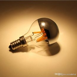 Wholesale Shadowless Bulb - New type G45 half clear glass and half sliver color glass LED filament light warm white white 3.5W dimmable LED shadowless Bulb