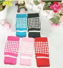 Wholesale Typing Fingerless Gloves - Quality Wool Little Computer Typing Gloves Fingerless Gloves Pineapple Students half gloves women girl warm knitted gloves
