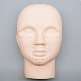 Wholesale Makeup Practice Mannequin Heads - Semi Permanent Makeup Tattoo Eye Lip 3D Practice Skin Mannequin Head Training supplies