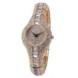 Wholesale Crystal Gold Fox - MISS FOX New Fashion Women Luxury Round Gold Quartz And Battery Crystal Stainless Steel Alloy Jewelry Buckle Waterproof Watch Wristwatches