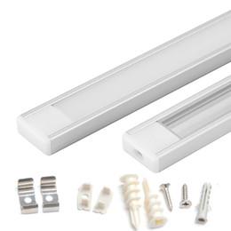 2m bar licht online-1m 1.5m 2m geführtes Aluminiumprofil für geführtes Stablicht führte Streifenlichtaluminiumkanal wasserdichte Aluminiumgehäuse U-Form