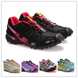 Wholesale Fall Drops - Drop Shipping 2017 High Quality New Zapatillas Speedcross 3 Running Shoes Men Walking Ourdoor Sport Speed cross Athletic Shoes Size 40-46