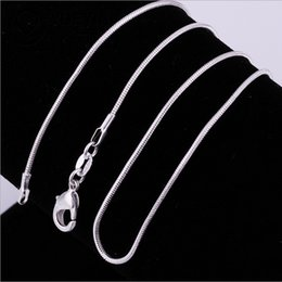 Wholesale High Quality Wedding Jewelry - Big Promotions !High quality 1MM 18inches 925 sterling silver snake chain necklace fashion jewelry free shipping