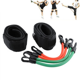 Wholesale Resistance Ankle Strap - Leg Speed Strength Resistance Kinetic Tube Bands Ankle straps Training Workout For Power Kick Boxing Thai Punch Taekwondo