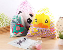 Wholesale Cute Hanging Wall - cute cat Travel multi-purpose storage bag PVC waterproof Home Storage Transparent Bathroom Cosmetic Beam mouth bag wholesale free shipping