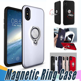 Wholesale Plastic Fashion Rings - Fashion 360 Ring Holder Magnetic Back Cover Hybrid Armor Shockproof Case For Sumsung S7 Edge Note8 G530 J2 J5 J7 Prime 2017