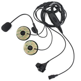 Wholesale Kenwood Radio Mic - Finger PTT Adjustable VOX MIC Earpiece Headset for Motorola for Kenwood TYT RETEVIS Radio Walkie Talkie Hf Transceiver C2232A