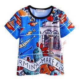 Wholesale Kids T Shirt Cartoon Designs - In Stock Cutestyles 2016 New Designs T-shirt for Boys Cute Cartoon Pattern Kids Tops Fashion Boys Clothing BT90318-19L