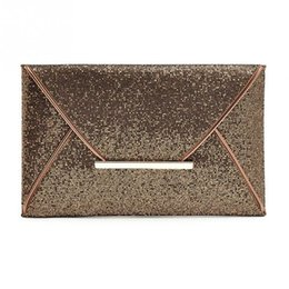 Wholesale Pu Leather Clutch Purse - Vintage Sequin Leather Handbags Hot Sale Women Envelope Clutches Ladies Banquet Party clutch High Capacity Purse