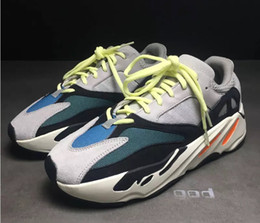 Wholesale Running Gifts - 2017 Newest Kanye West Wave Runner 700 Running Shoes Christmas gift White-Core Black Authentic Boost 700 Casual Sports Sneakers EUR 5-12
