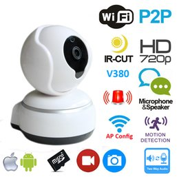 Wholesale Mini Ip Pan Tilt Camera - Hot Sell 10PCS Mini IP Camera Home Video Surveillance CCTV System P2P Pan Tilt WiFi Web cam Netcam WiFi Camera Q3