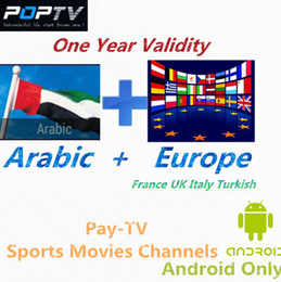 Wholesale Gt Free - GT-POPTV Arabic Europe IPTV Account 700+Channels for France Turkish UK Italy with VOD Play 3 in1 av Cable free shipping