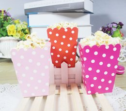 Wholesale Movie Baby Shower - Mini Popcorn Boxes Polka Dot Candy Buffet Favor Party Paper Bags Movie Home Baby Shower Supplies Wedding Decor