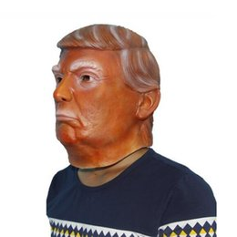 Wholesale presidents masks - USA President Mr Trump Latex mask Halloween Mask Latex Billionaire Presidential Donald Trump