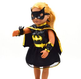 Wholesale Doll Toys For Girls - Christmas Gifts For Children Girls Doll Accessories Handmade Princess Dress For 18'' American Girl Dolls Batman Clothes