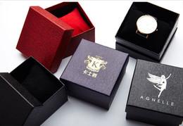 Relógios de pulso on-line-O céu e a terra da grão da lichia cobrem o formulário da caixa do relógio na forma da caixa de jóia de 85x85X53mm