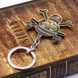 Wholesale One Piece Fan - Anime Series One Piece Luffy Straw Hat Pirates Skull Keychains Metal Keyring Key Holder For Fans Cosplay