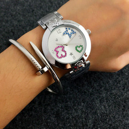 Wholesale Dress Femme - Hot Design Fashion Luxury Women Lady Dress Quartz Bear Watch Ladies Wristwatch Relogio Feminino Montre Femme Reloj Mujer Gift
