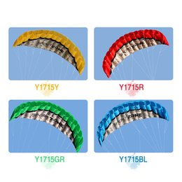 Wholesale Kite Stunt - Outdoor Sports 2.5m Power Soft Kite Dual Line Stunt Parafoil Kite with Handle 30m Line Y1715