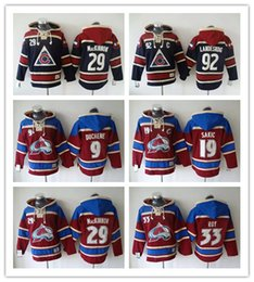 Wholesale gabriel landeskog jersey - Colorado Avalanche Hockey Men Jerseys 9 Matt Duchene 29 Nathan MacKinnon 33 Roy 92 gabriel landeskog Hoodie Hooded Sweatshirt Jackets Jersey