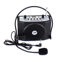 Wholesale Wireless Tour Guide - Portable Amplifier Audio Megaphone Mini Speaker Wireless Radio FM USB Player Loudspeaker With Microphone For Teaching Speech Tour Guide