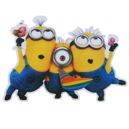 Wholesale Wall Stickers Minion - Wholesale 1 Set Fun Minions Car Auto Decal Stickers Automobile Accessories Vehicle, for Car Bumper Window Sticker, the Whole Body, or Wall