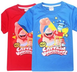 Wholesale Kids Tee Shirts For Boys - 2017 Captain Underpants T-shirt For Boys Tops Cotton Shirt For Girls Captain Underpants Costumes Children Clothing Kids Tee