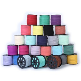 Wholesale Make Cord - Micro-Fiber Faux Flat Leather Cord Suede Beading Lace Thread String For Jewelry Making 3mm 5mm 10mm width