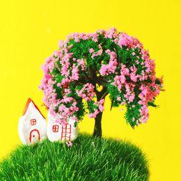 Wholesale Fairy Flower Garden - 24 Pcs  artificial trees miniatures cute plants pink flower fairy garden moss terrarium decor crafts bonsai bottle garden