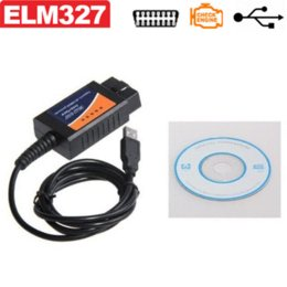 Wholesale Can Bus Interface Usb - ELM 327 V1.5 OBD 2 ELM327 USB Interface CAN-BUS Scanner Diagnostic Tool Cable Code Support OBD-II Protocols Diagnostic-tool