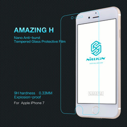 Wholesale Nillkin Iphone Screen Protector - Nillkin Brand Amazing 9H Glass Screen Protector for iphone 7 Tempered Glass Screen Protector Film for iphone 7 Plus with Retail Packaging