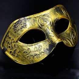 Wholesale Halloween Wholesale Mardi Mask - Masquerade Masks Halloween Costumes Halloween Mask Half Face Party Masks Masquerade Knight Prince Masks Mardi Gras Gifts