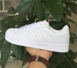 Wholesale Colour Laser - 2016 classic models Women's Shoes White Shoe Laser Dazzle Colour Superstar Shell Head Sneakers, Free Shipping.