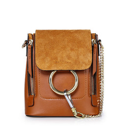 Wholesale Drop Shipping Purses - Europe and America style Ladies shoulders bag Genuine leather bag backpacks for girls purses handbags drop shipping