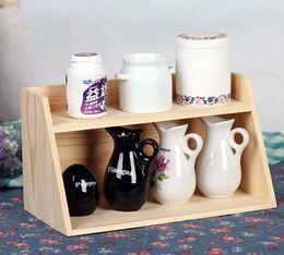 Wholesale Wooden Key Storage - Zakka 3layers Size 25*12*31cm Wooden Housekeeping Sundries Medicine Cosmetic Toys Keys Storage Organization Vase Case Pot Box Display Rack
