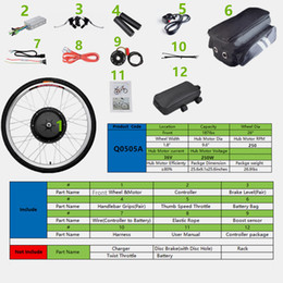 Wholesale 36v Bicycle Conversion Kit - CBSEBIKE Front Wheel Brushless Toothless 36V250W Mountain Bike Bicycle Electric Bicycle converted 26 inch motor conversion kit