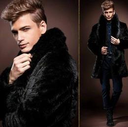 Wholesale Cheap Hooded Parka Coats - 2017 Parka Warm Winter Men's Faux Fox Fur Collar Jaqueta Masculina Thicking Medium-long Imitation Rabbit Fur Coat Cheap D42